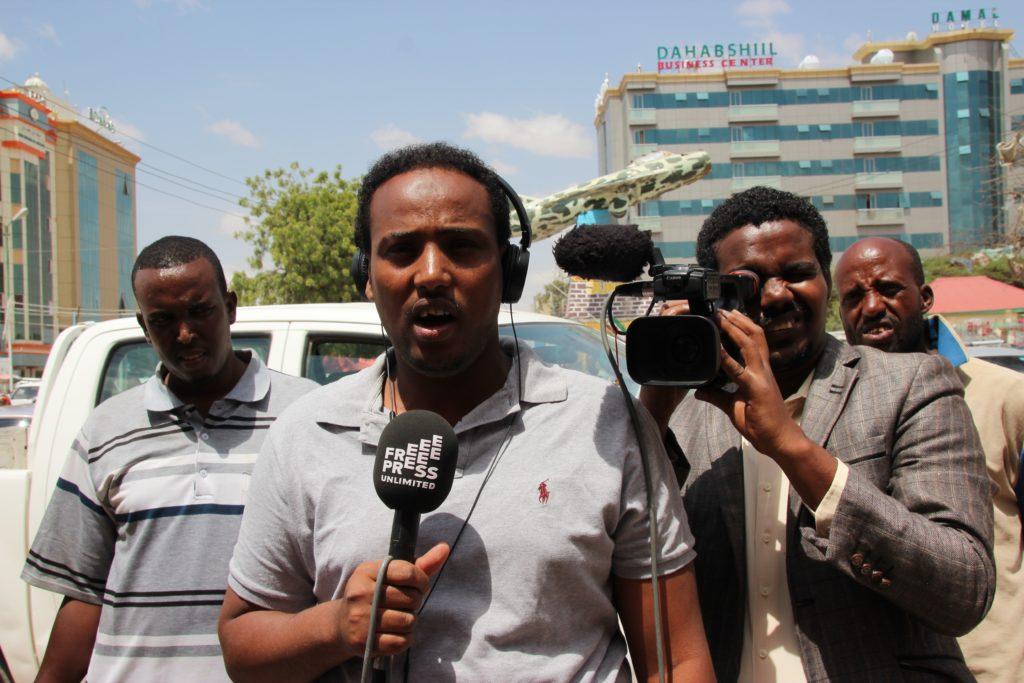 A team reporting the news in Somaliland Credit: Paul Enkelaar